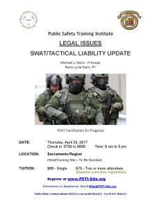 Swat Liability Update - 2 (Sacramento)